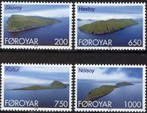 Faroe Islands 2000 #383-6 MNH. Islands