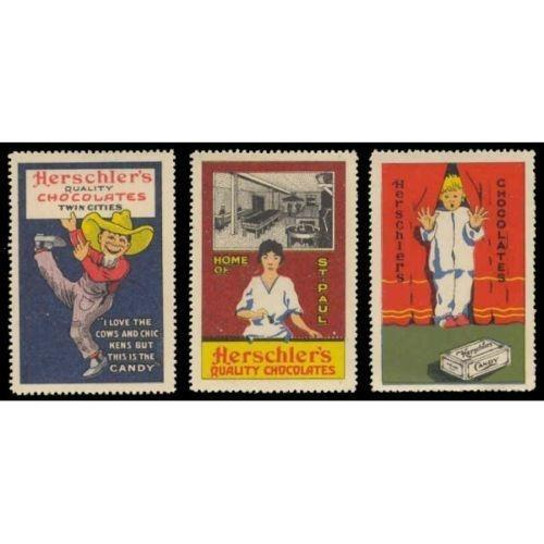 Herschlers Chocolates Advertising Poster Stamps