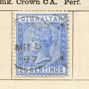 Gibraltar 1889 Early Issue Fine Used 25c. NW-114718