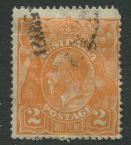 Australia - Scott 27 - KGV Head -1914 - Used - Wmk 9 - 2p Stamp