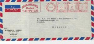 Pakistan 1959 Hakimsons Medical Service Airmail Meter Mail Stamps Cover Ref28721