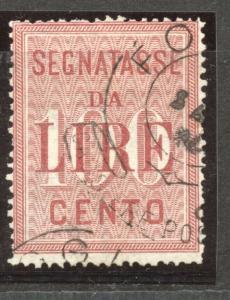 Italy, Postage Due, 1884, 100 Lire, VF  used, Scott # J 23,