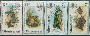 Montserrat 1972 SG291-294 Reptiles set MNH
