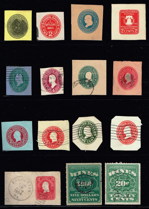 US STAMP BOB  CUT SQ, WINE STAMP COLLECTION LOT  #5