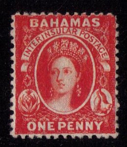 Bahamas Sc 11b MLH (1863) Queen Victoria Rose lake CV $160.00