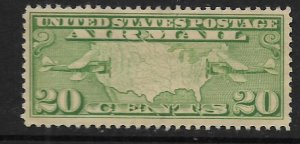 US C9  MINT HINGED   MAP OF USA & AIRPLANE