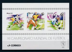 [59376] Brazil Brasilien 1982 World Cup Soccer Football Spain MNH Sheet