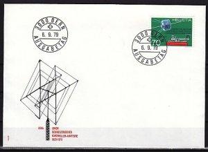 Switzerland, Scott cat. 679. Morse Key & Satellite issue. First day cover. ^