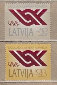 LATVIA 1992 Olympic Committee MNH(**) Mi 323-325 #HS31