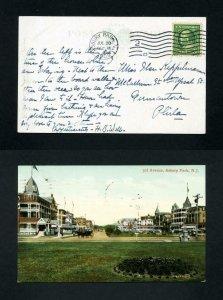 # 331 Picture Post Card 3rd Avenue, Asbury Park, NJ - 7-28-1909