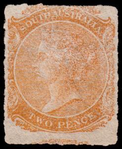 South Australia Scott 60 (1869) Mint H F-VF, CV $190.00 M