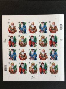2001 sheet Christmas Santa Claus Sc# 3537-40