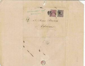 Spain 19th centuary stamps cover Ref 8419