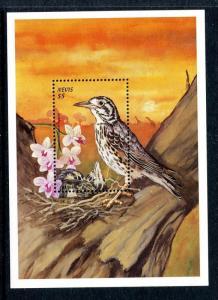 Nevis 1141-1142, MNH, Birds: Bananaquit, Groundscraper Thrush 1999. x29090