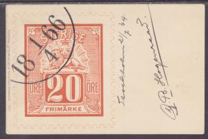 Sweden Sc 56 on 1904 Stamp Facsimile PPC to Breda, Holland