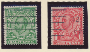Great Britain Stamps Scott #158A To 158B, Used - Free U.S. Shipping, Free Wor...