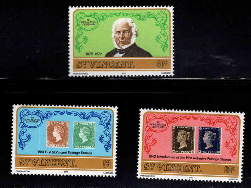 St Vincent Scott 545-547 MNH** 1979  Rowland Hill stamp on stamp set