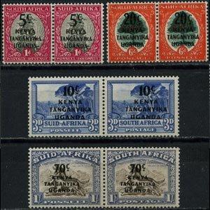 K.U.T. 1941 - Scott# 86-9 Surchanged Set of 8 NH