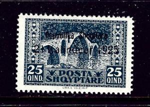 Albania 175 MNH 1925 overprint issue