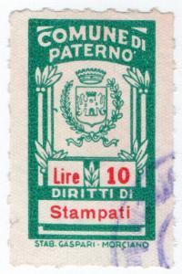 (I.B) Italy Revenue : Diritti di Stampati 10L (Paterno)