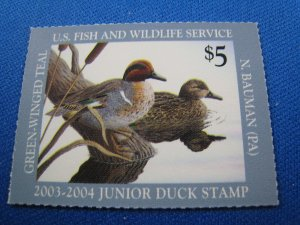 UNITED STATES 2003 DUCK STAMP - SCOTT #JDS11   MNH
