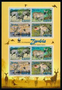 [78302] Zambia 2008 Wild Life Greater Kudu WWF Full Sheet MNH