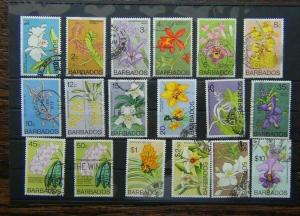 Barbados 1974 Orchids set Used
