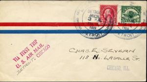 #C4 ON 1ST FLIGHT DETROIT - CHICAGO FEB. 15,1926 COVER BN6300