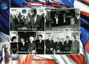 50th.Anniv.Death of John F.Kennedy/Space Shlt(4) Perf.Chad