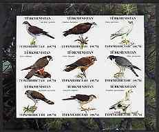 Turkmenistan 2000 ? Birds of Prey imperf sheetlet contain...