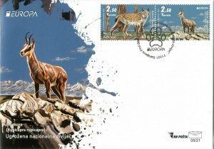 Stamps of Bosnia and Herzegovina  2021- FDC ''Evropa 2021'' , Set.