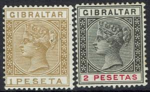 GIBRALTAR 1889 QV 1P AND 2P