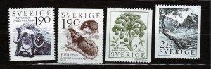 J23089 JLstamps 1984 sweden set mnh #1488-92 wildlife
