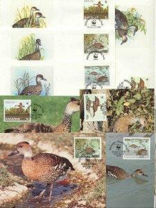 Bahamas 8 FDC/cards WWF/Birds(Ducks) 1988