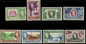 BRITISH HONDURAS Sc#115, 117-123 1938 KGVI Definitives Part Set OG Mint LH