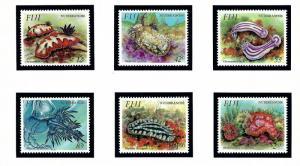 Fiji 692-97 MNH 1993 Nudibranchs