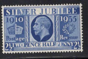 Great Britain Scott 229 MH* 1935 Silver Jubilee stamp Hinge remnant