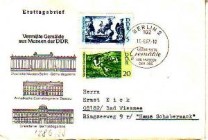 Germany D.D.R., First Day Cover, Horses, Art