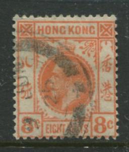 Hong Kong - Scott 136 - KGV Definitive  -1931 - FU - Single 8c Stamp