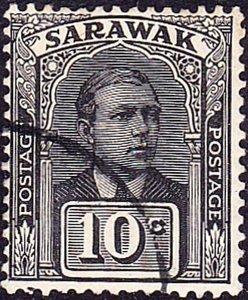 SARAWAK 1923 10 Cents Black SG68 Fine Used