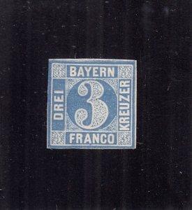 Bavaria: Sc #2, MH, Imperf, Not Much Gum (S18163)