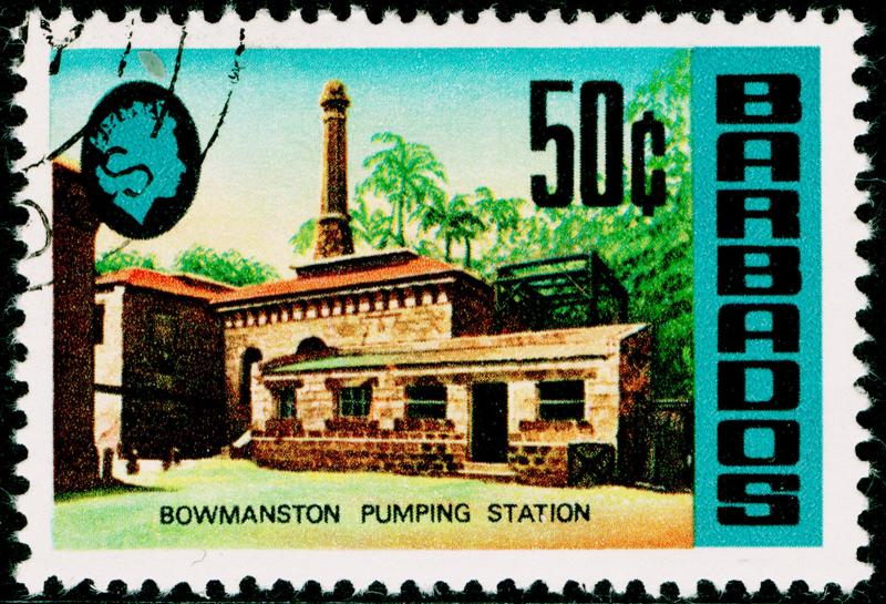 BARBADOS SG411a, 50c bowmanston pumping station, FINE USED