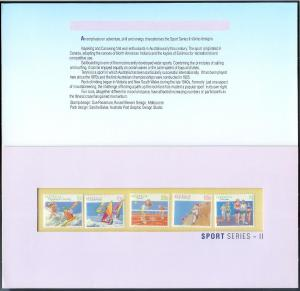 AUSTRALIA (40) Presentation Folders w/stamps All different All Mint Never Hinged