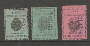 El Salvador Cinderella Fiscal Revenue Stamp 8-1-  as seen