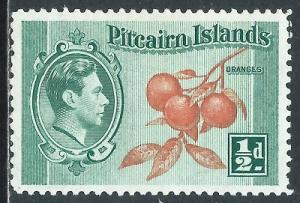 Pitcairn Islands, Sc #1, 1/2d MH
