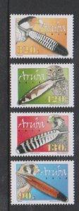 Aruba 2018 BIRDS & FEATHERS 4v MNH