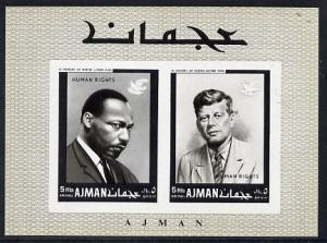 Ajman 1968 Human Rights (Kennedy & Martin Luther King...