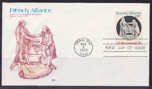 1753 French Alliance Unaddressed Cover Craft FDC