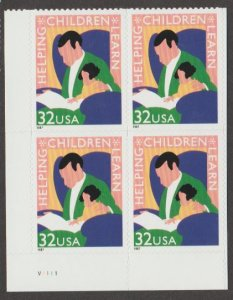 U.S. Scott #3125 Helping Children Learn Stamps - Mint NH Plate Block