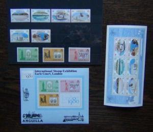 Anguilla 1980 Salt Industries 1980 London 1980 set & Miniature Sheet MNH